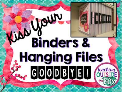 Binders And Hanging Files Goodbye