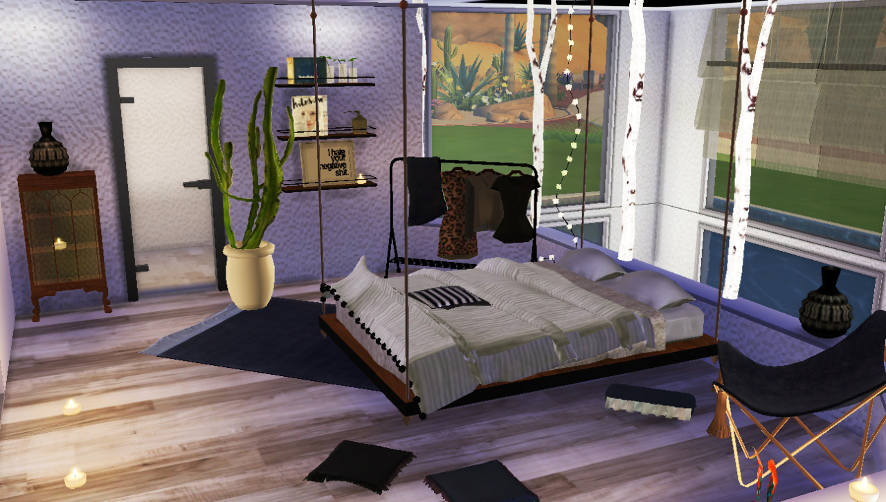 My sims 4 blog bedroom set and decor by steffor for Bed decoration set