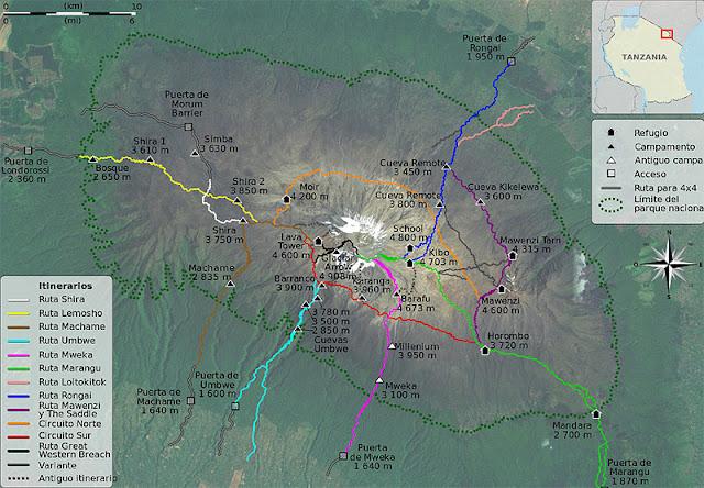 Circuitos de subida al Kilimanjaro