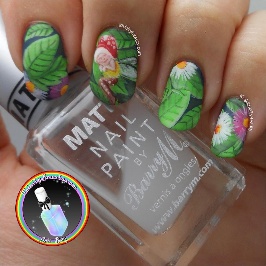 Freehand Sleepy Little Fairy Nail Art | IthinityBeauty.com ...