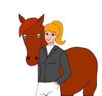 cavalière cheval