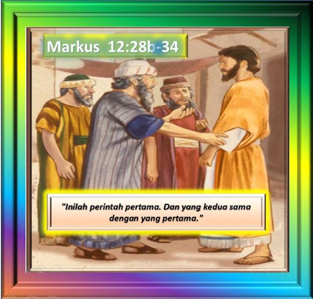 MARKUS 12:28b-34