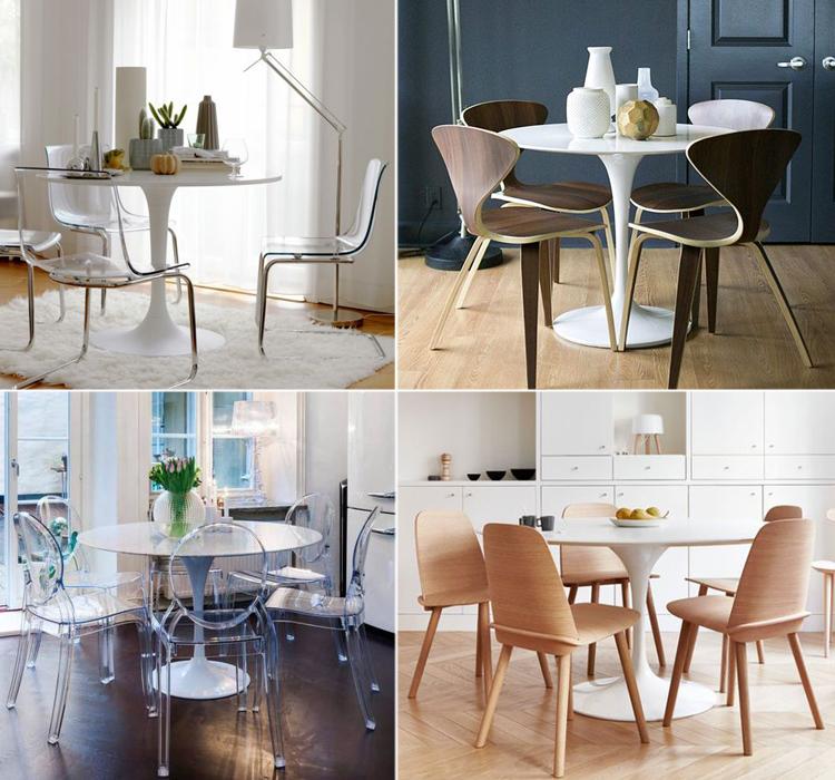 Cool sedie per tavolo rotondo so66 pineglen - Sedie da abbinare a tavolo fratino ...