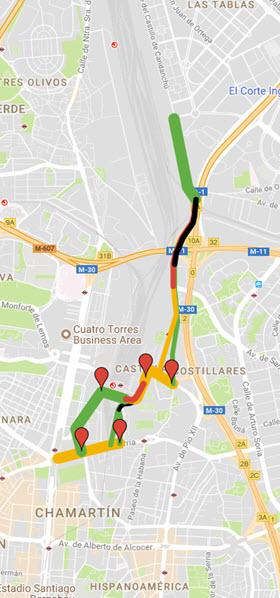 itinerario Plaza Castilla - Las Tablas
