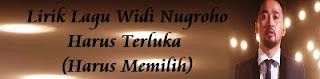 Lirik Lagu Widi Nugroho - Harus Terluka (Harus Memilih)