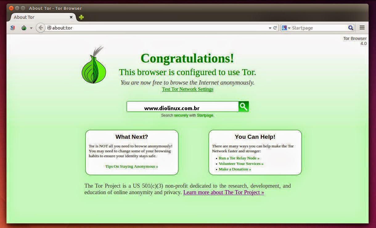 Como instalar o Tor Browser 4 no Ubuntu - Diolinux - O modo Linux e