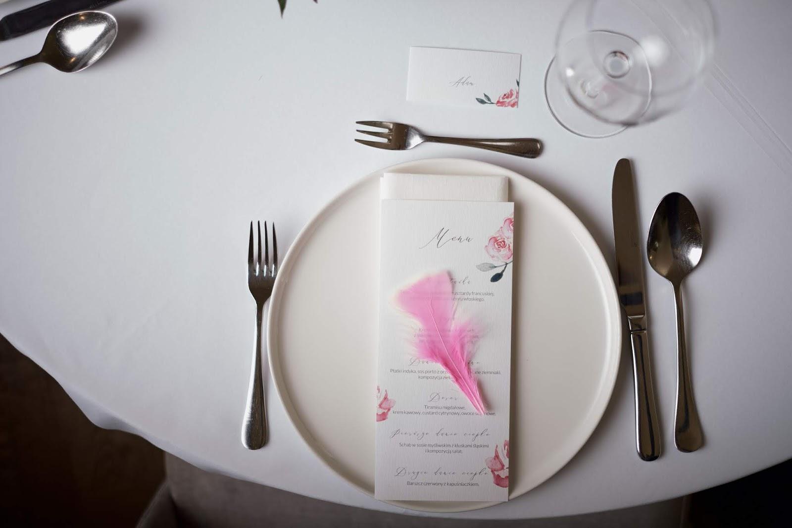 Flamingowa papeteria ślubna