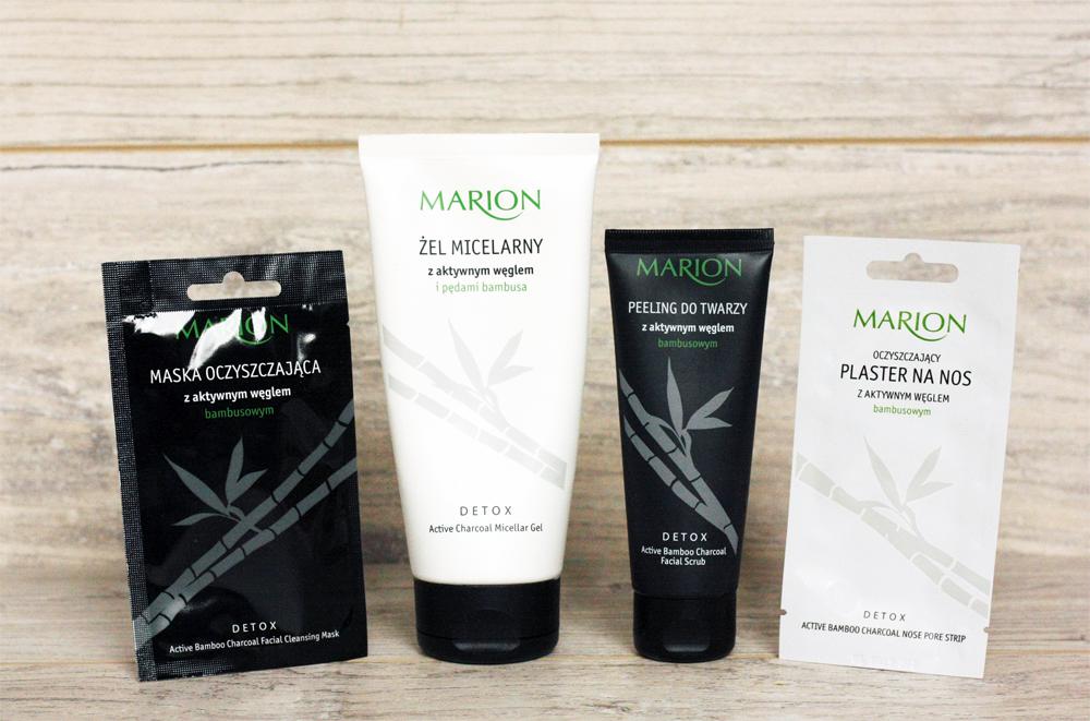 marion-maska-oczyszczajaca-z-aktywnym-weglem, marion-peeling-do-twarzy-z-aktywnym-weglem, marion-zel-micelarny-z-aktywnym-weglem, marion-oczyszczajacy-plaster-na-nos, pielegnacja-twarzy, oczyszczanie-twarzy, kosmetyki-z-weglem