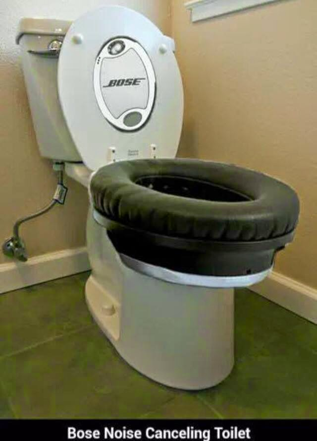 Funny Bose Noise Cancelling Toilet Joke Picture