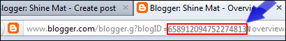 How to find blogger ID