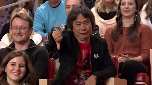 Shigeru Miyamoto thumbs down Tonight Show Jimmy Fallon Super Mario Run Bill Trinen