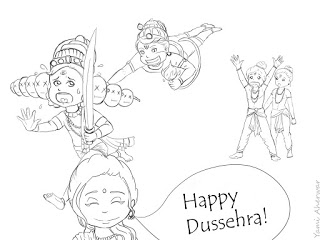 dussehra pictures for drawing dussehra pictures for colouring