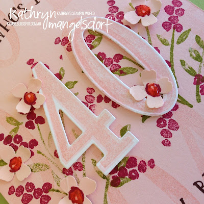 Stampin' Up! Number of Years & Large Numbers Framelits Dies Birthday Card by Kathryn Mangelsdorf