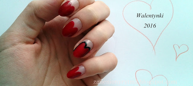 Walentynkowa propozycja na paznokcie