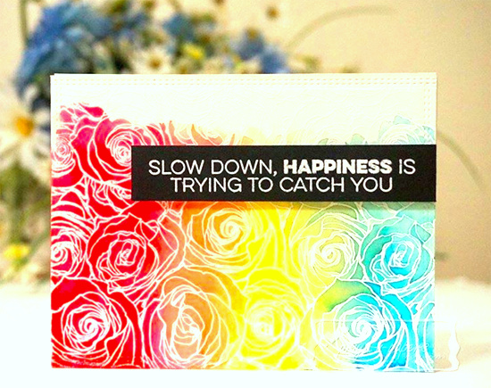 Totally Happy stamp set and Roses All Over Background stamp - Priya Sondhi #mftstamps