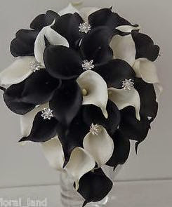 Black White And Silver Wedding Bouquets