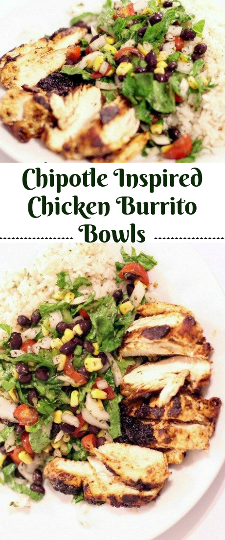 Chipotle Inspired Chicken Burrito Bowls