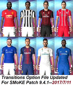 Option File PES 2017 untuk SMoKE Patch 9.4.1 update 11/7/2017