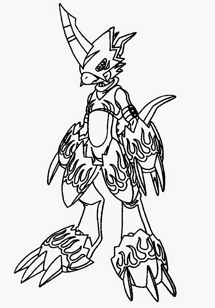 digimon data squad coloring pages - photo#33
