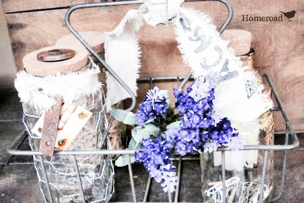 Project (Runway) Challenge: Chicken Wire and Mason Jars