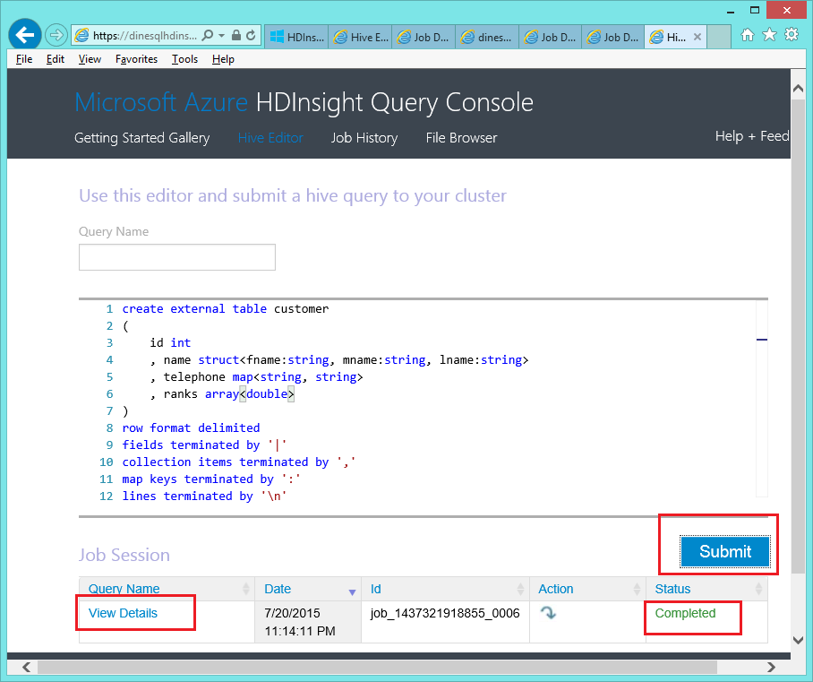 Dinesh's Blog :::: Being Compiled ::::: How to create a Hive table
