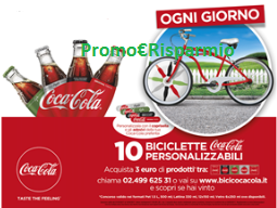 Logo Con Coca-Cola vinci 460 biciclette brandizzate