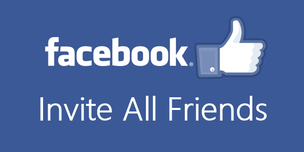 Invite all facebook friends in one click