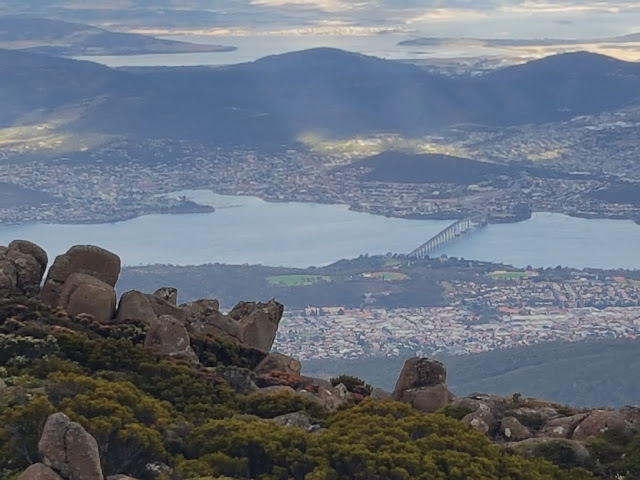A view over Hobart from Mount Wellington