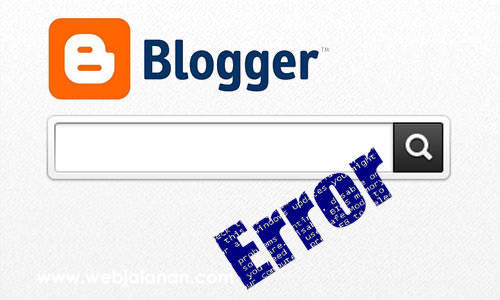 Tombol Search Error