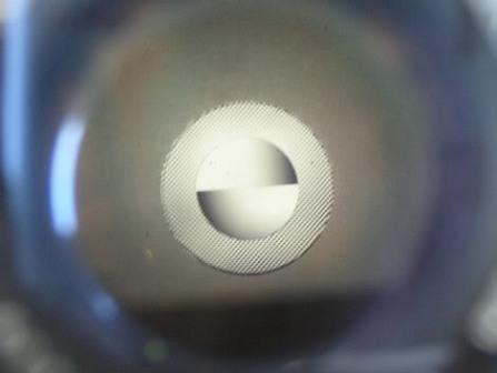 Split image dan microprism kamera analog tidak fokus
