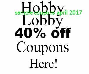 Hobby Lobby coupons april