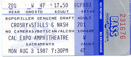 Crosby, Stills, and Nash, August 3, 1987