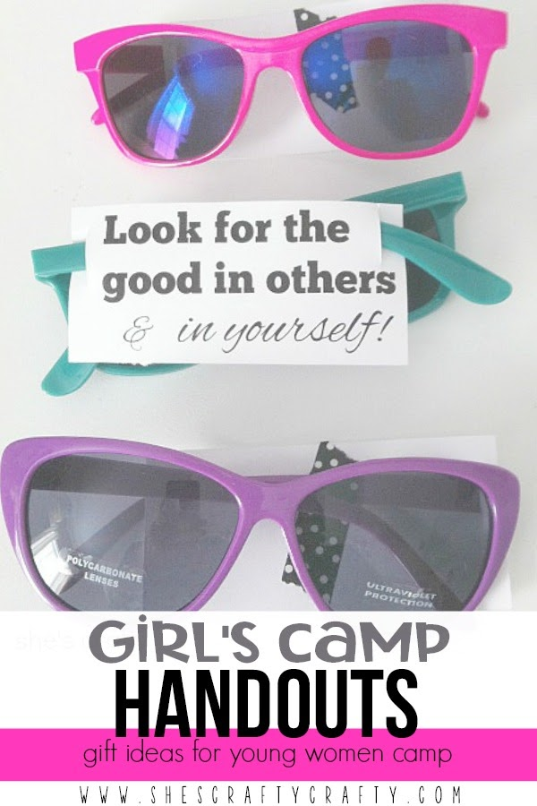 Girls Camp Handouts - gift ideas for Young Women Camp