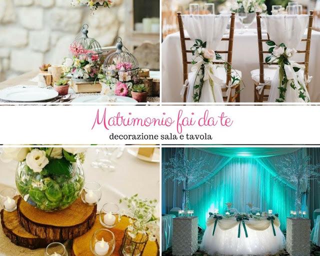 Decorazione sala e tavola per un matrimonio fai da te