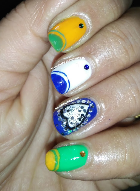 Republic Day Nailart
