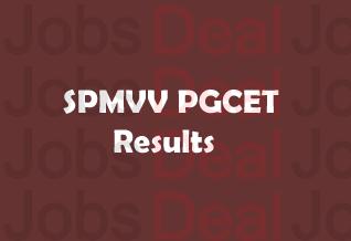 SPMVV PGCET Results 2017