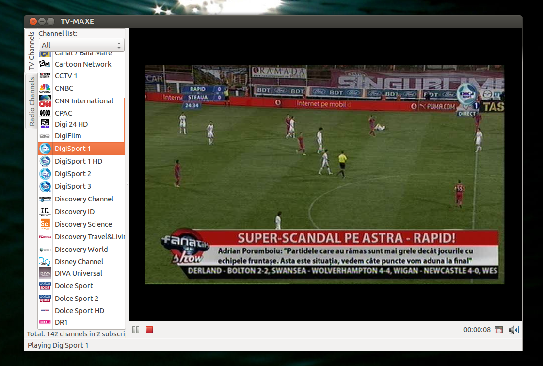 TV-Maxe 0 07 Released, Ubuntu PPA Available [SopCast Player