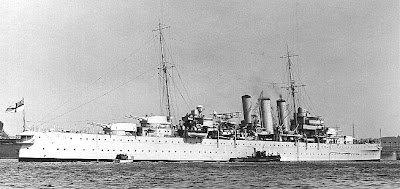 WW2 Battle of Atlantic  HMS Doresetshire heavy cruiser
