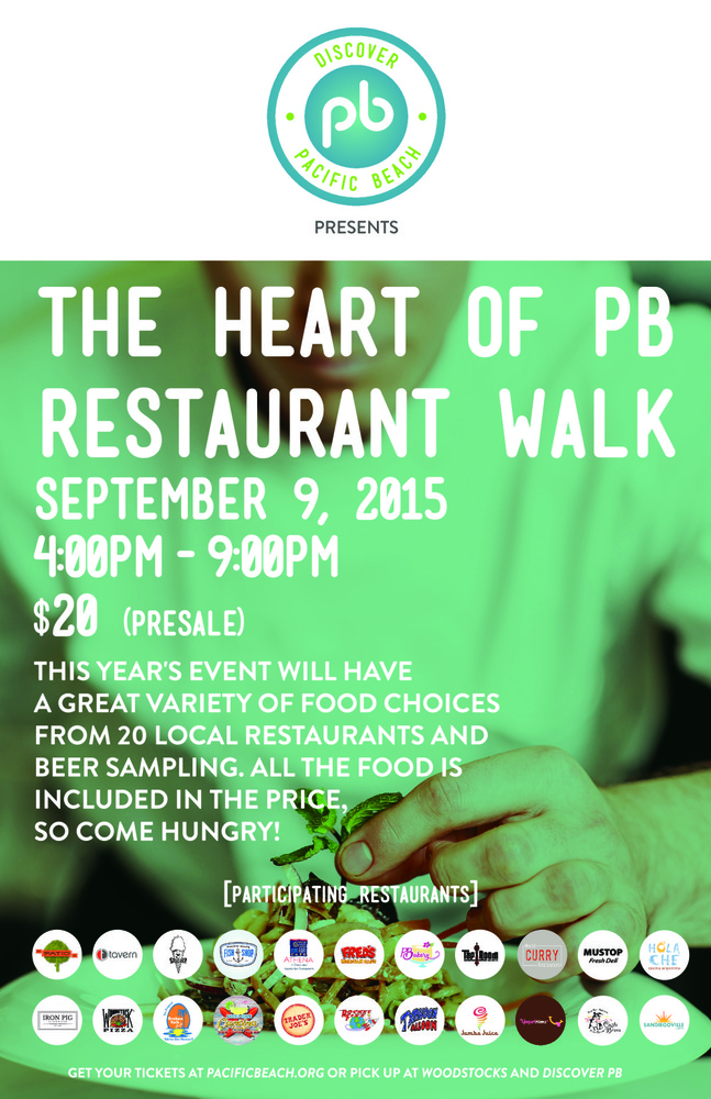 Experience The Culinary Nucleus Of Pacific Beach On September 9 Enter To Win 2 Tickets Heart Pb Restaurant Walk