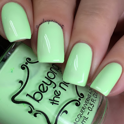 beyond the nail exploding honeydew swatch soft neons