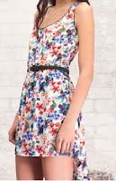 vestido stradivarius con estampado