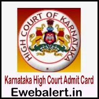 Karnataka High Court Admit Card
