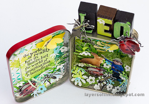 Layers of ink - Springtime Altered Tin Tutorial by Anna-Karin Evaldsson.