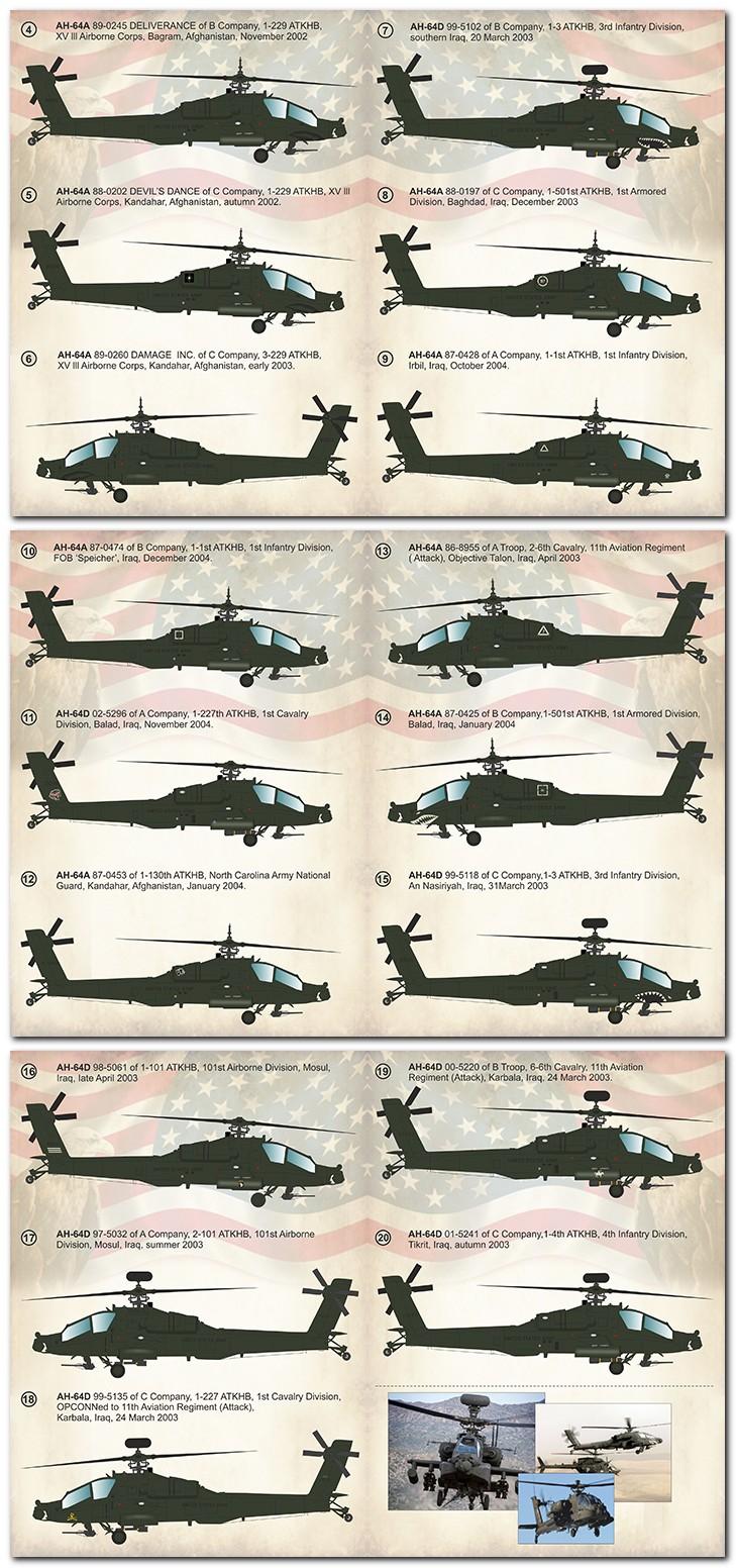 Print Scale Decals 1//72 McDonnell-Douglas AH-64A//AH-64D Apache Part 2 # 72304