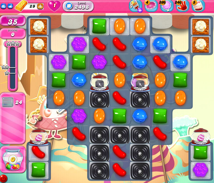 Candy Crush Saga level 2498