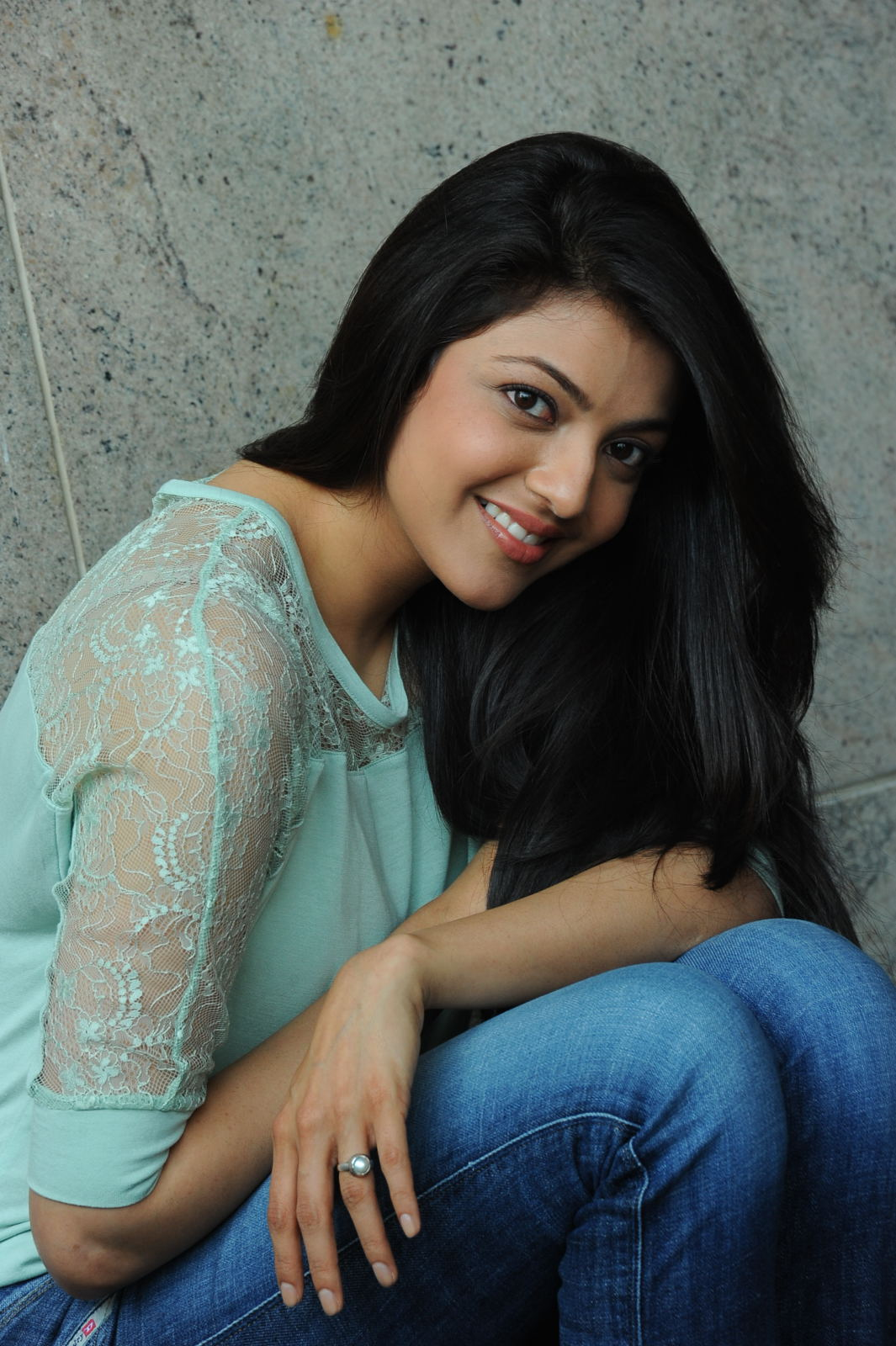 Kajal Agarwal Latest Photos In Blue Dress Jeans
