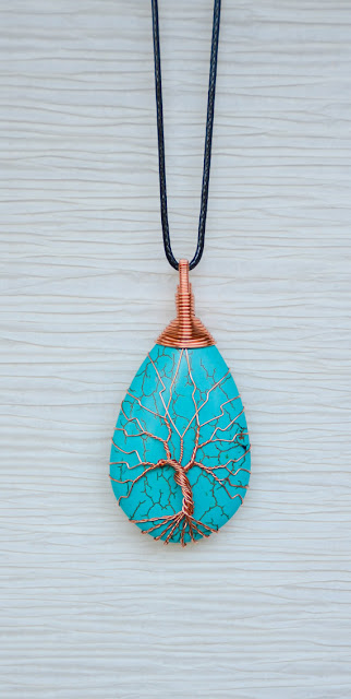 Recycled Beautifully copper cord necklace