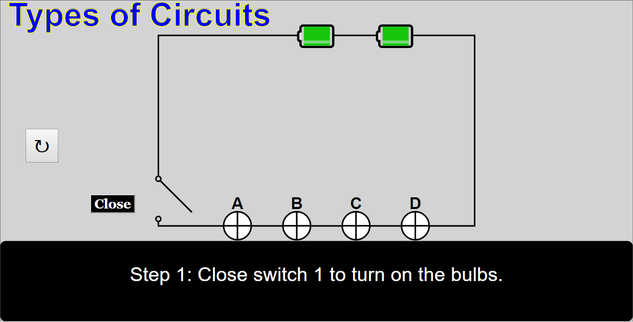 Types Of Circuits JavaScript Simulation Applet HTML5