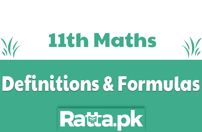 1st Year Maths Definitions and Formulas of All Chapters