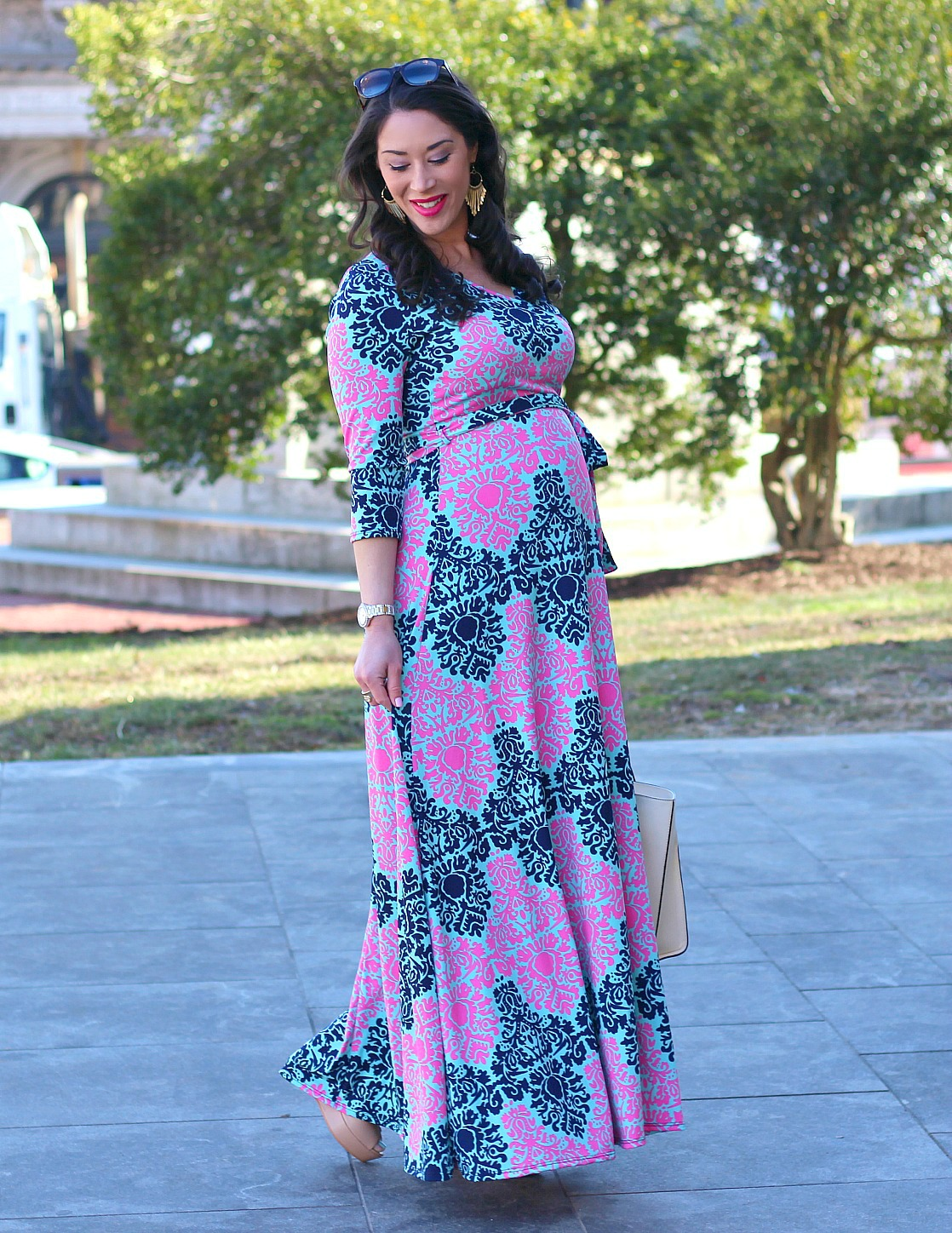 8f385a0cc9680 Style in Harmony: PinkBlush Maternity Maxi Dress
